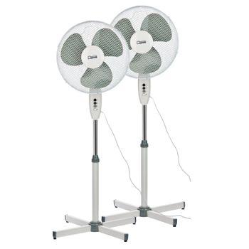 Set 2x Standventilator Ventilator 3 Stufen Klimagerät – Bild 1