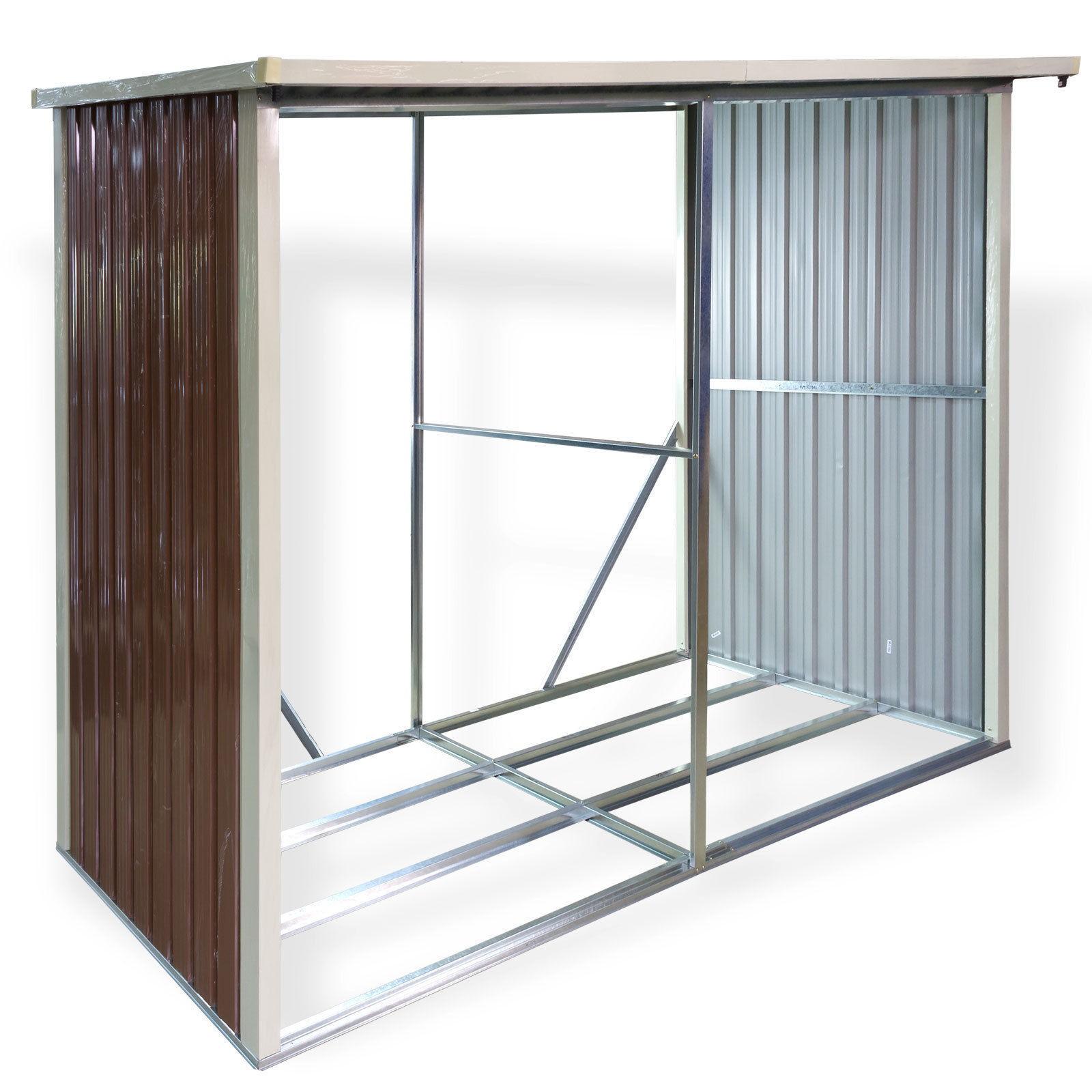 holzregal metall aussen wohn design. Black Bedroom Furniture Sets. Home Design Ideas