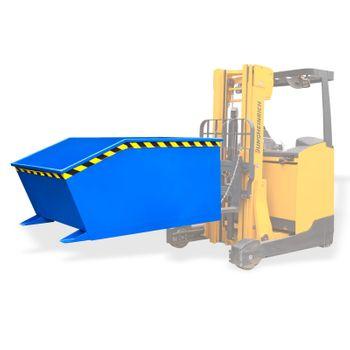 Stapler Kippbehälter Kippmulde Transportmulde mit Gabelaufnahme 1,0m für 1000kg  – Bild 1