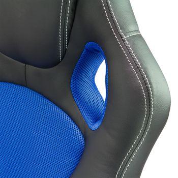 Bürostuhl Schreibtischstuhl Chefsessel Drehstuhl Bürosessel Stuhl schwarz - blau – Bild 4
