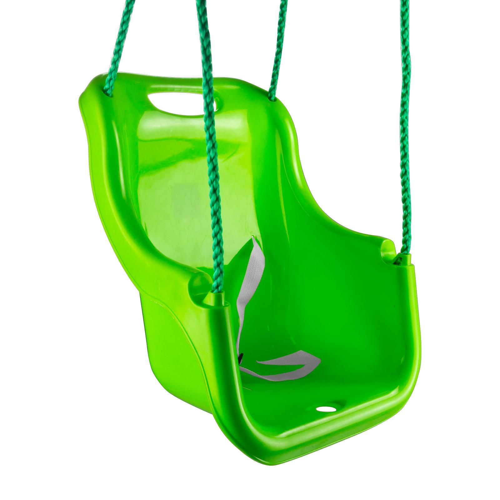 pvc babyschaukel schaukel kinderschaukel astschaukel mit seil gr n f r bis 25 kg. Black Bedroom Furniture Sets. Home Design Ideas