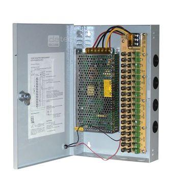 Detec Secure 18 Kanal Kombi Netzteil Verteiler Überwachung Stromverteiler – Bild 2