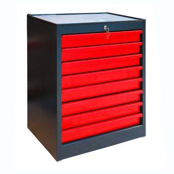 ADB Schubladenschrank aus Stahl mit 8 Schubladen RAL7016 / 3000