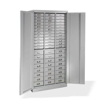 ADB Schubladenschrank / Werkzeugschrank / Materialschrank Lichtgrau 80x41x179 cm – Bild 1