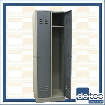ADB Spind Garderobenschrank 2 türig Regular RAL 7035 / RAL 7001 – Bild 3