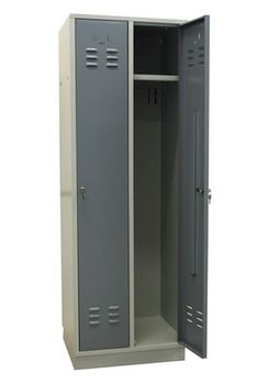 ADB Spind Garderobenschrank 2 türig Regular RAL 7035 / RAL 7001 – Bild 1