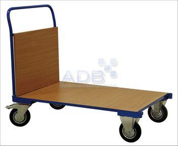 ADB Transportwagen | Bügelwagen einseitig mit 1 Holzwand, Höhe 500 mm, Rad d=160mm 400 kg