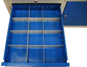 ADB Werkbank XXL 200x75x85 cm lichtgrau/blau 6 Schubladen – Bild 2