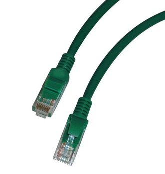 CAT 5e Kabel 1m RJ45 Stecker grün