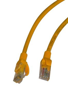 CAT 5e Kabel 2m RJ45 Stecker gelb