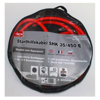 Starthilfekabel 35 mm², 4.5 m Starthilfe Startkabel Überbrückungskabel + Tasche – Bild 2