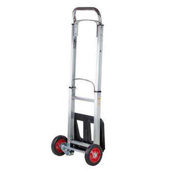 Alu Sackkarre Transportkarre Stapelkarre Karre klappbar bis 90kg Vollgummireifen – Bild 2