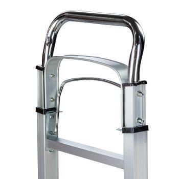 Alu Sackkarre Transportkarre Stapelkarre Karre klappbar bis 90kg Vollgummireifen – Bild 5