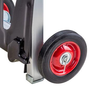 Alu Sackkarre Transportkarre Stapelkarre Karre klappbar bis 90kg Vollgummireifen – Bild 6
