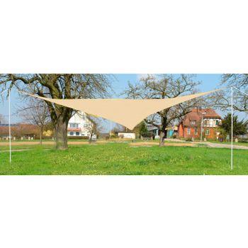Sonnensegel Dreieck cremeweiß 5 x 5 x 5 m Tragetasche Sonnenschutz Beschattung – Bild 1