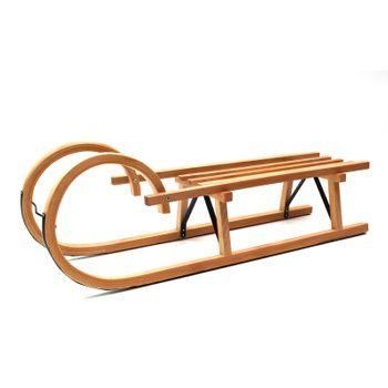 Hörnerrodel Schlitten Holzschlitten Hörnerschlitten 110 cm – Bild 1