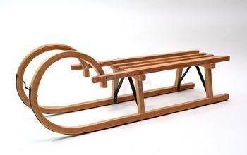 Hörnerrodel Schlitten Holzschlitten Hörnerschlitten 110 cm – Bild 2