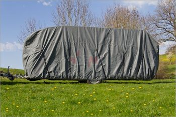 Wohnmobil Wohnwagen Ganzgarage 610x225x220 cm Abdeckplane Plane – Bild 2