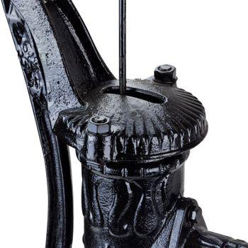 Metall Handschwengelpumpe Gartenpumpe Nostalgie Brunnenpumpe Antik Guß schwarz  – Bild 3