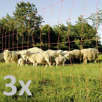 3x Euronetz Elektrozaun Schafnetz Schafzaun Doppelspitze 90cm – Bild 1