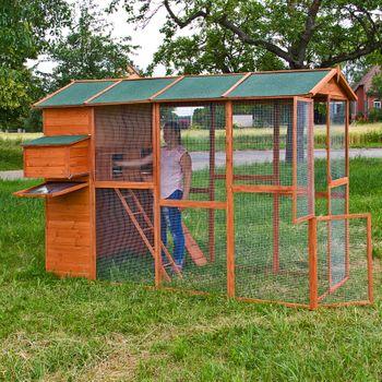 Hühnerstall Voliere Fasanengehege mit Gehege Auslauf Emsland – Bild 6