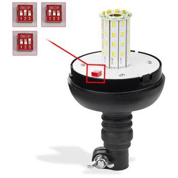 PKW Gefahren - Rundumleuchte Warnleuchte 40 LED12 Volt 3 Funktionen orange  – Bild 3