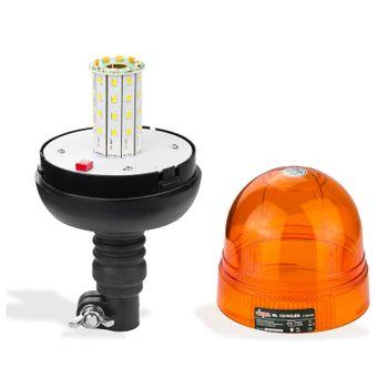 PKW Gefahren - Rundumleuchte Warnleuchte 40 LED12 Volt 3 Funktionen orange  – Bild 2