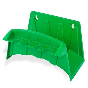 Wandschlauchhalter Schlauchhalter m. Aussparungen grün Gartenschlauch Schlauch – Bild 1