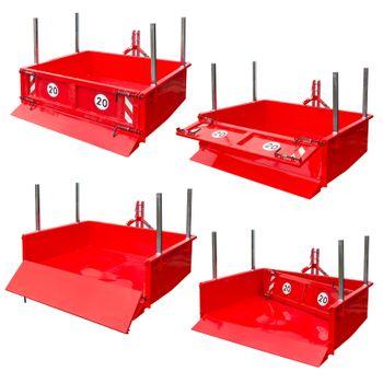Heckcontainer hydraulisch 125x180x40 cm Nutzbreite 180 cm Nutzlast 1000 kg – Bild 2