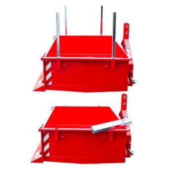 Heckcontainer / Kippmulde Kat 1 + 2 hydraulisch 125x180x40 Transportmulde Mulde – Bild 3