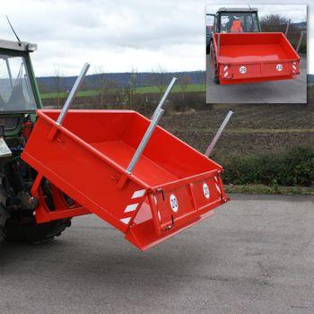 Heckcontainer / Kippmulde Kat 1 + 2 hydraulisch 125x180x40 Transportmulde Mulde – Bild 7