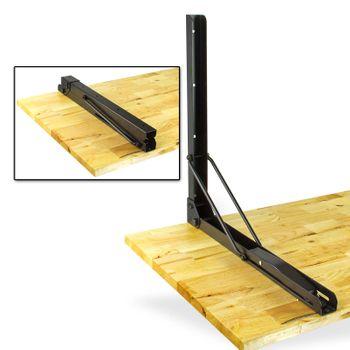 Universal Holz Eukalyptus Klapptisch Tisch Wand klappbar Wandhalter 120x58 cm – Bild 4