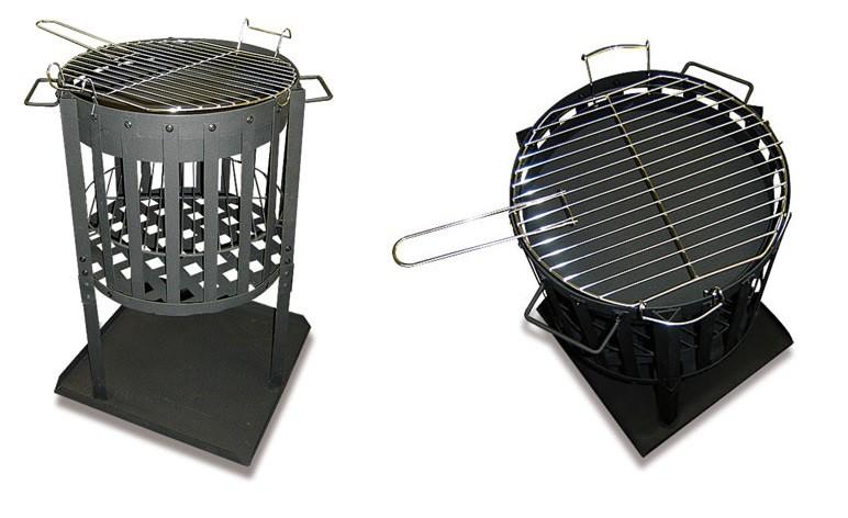 feuerkorb design 2 in 1 bbq grill feuerstelle feuerschale. Black Bedroom Furniture Sets. Home Design Ideas