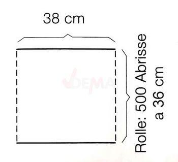 4x 500 Putzpapier Putztuchrolle Putzrolle 38x36 3 lagig - 2000 Abrisse – Bild 3