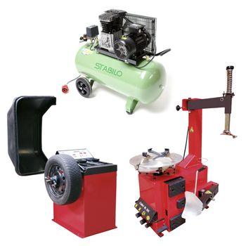 Auswuchtgerät + Reifenmontiergerät + Kompressor 10 bar 400 V – Bild 1