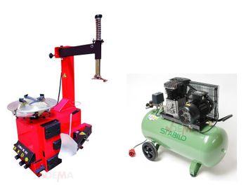 Reifenmontiergerät Montiermaschine BL 502 + Kompressor 10bar – Bild 1