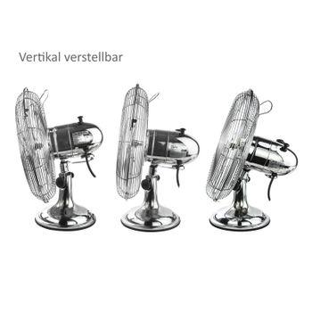 Tischventilator Ventilator Chrom Design 30 cm – Bild 2