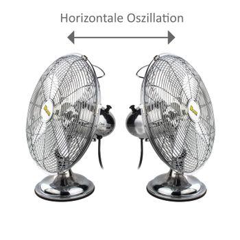 Tischventilator Ventilator Chrom Design 30 cm – Bild 3