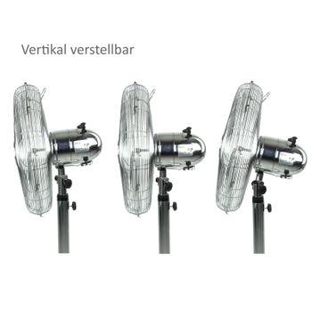 Standventilator Ventilator Chrom 4 Flügel Metall – Bild 5