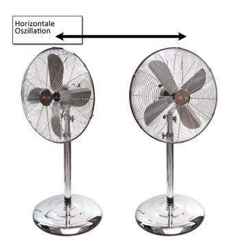 3x Standventilator Ventilator Chrom 3 stufig – Bild 3