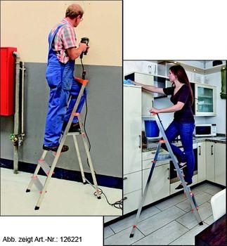 KRAUSE Stehleiter 6 Stufen-Leiter Haushaltsleiter Solidy Leiter – Bild 4