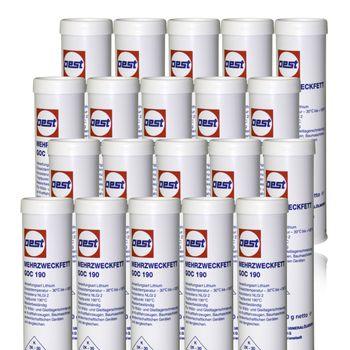 20er Set Mehrzweckfett Kartusche für Fettpresse Einhandpresse GOC 190  je 0.4 kg – Bild 1