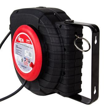 Kabeltrommel Kabelbox Kabelaufroller Automatik Verlängerungskabel Kabel 15 m – Bild 3