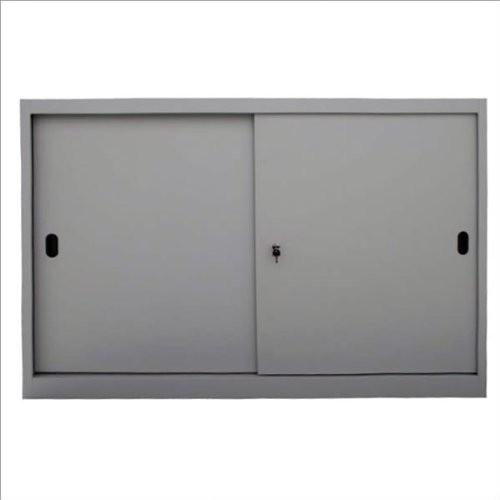adb schiebet renschrank stahlblech 105 x 120 x 45 cm lichtgrau ral 7035. Black Bedroom Furniture Sets. Home Design Ideas