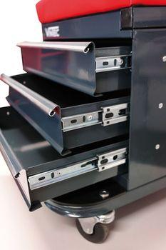 Werkstattsitz Werkstattstuhl Werkstatthocker mit Schubfächern fahrbar VT 3 – Bild 5