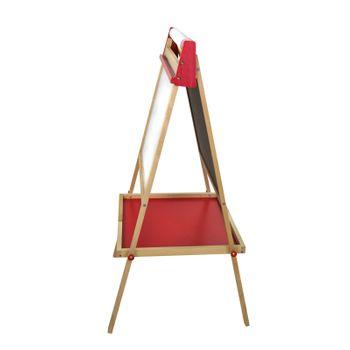 Doppelseitige Kindertafel Standtafel aus Holz Tafel Schultafel 56 x 48 x 98 cm  – Bild 4