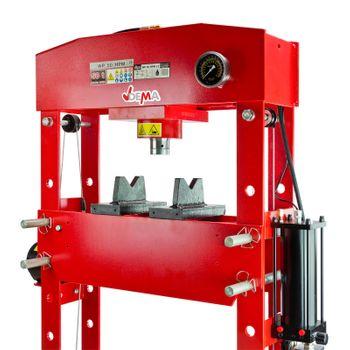 Hydraulik Werkstattpresse Lagerpresse Presse pneumatisch 50 t DL+ Manometer – Bild 4