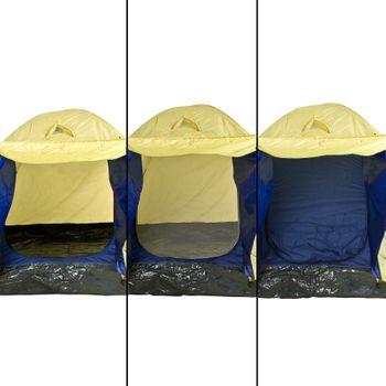 3-Personen Iglu Zelt - Wasserfest + Fliegenschutz – Bild 5