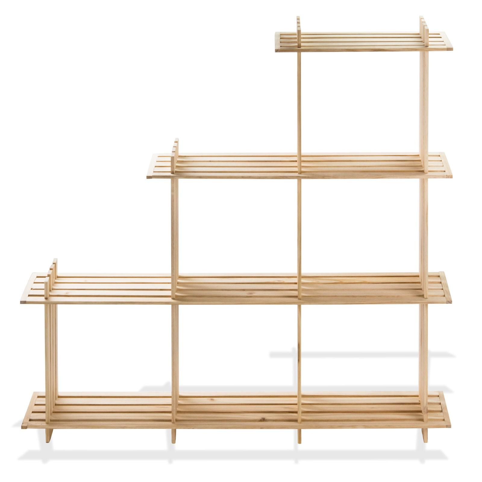 holzregal 6 f cher wohnregal b cher regal w rfel regal. Black Bedroom Furniture Sets. Home Design Ideas