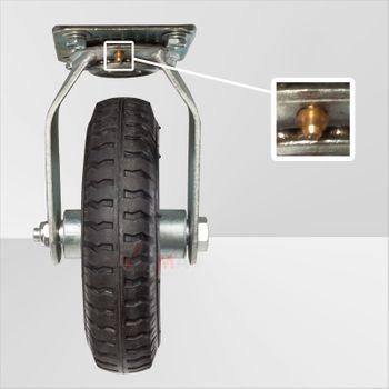 Handwagen / Transportwagen mit Luftbereifung klappbarer Griff – Bild 7